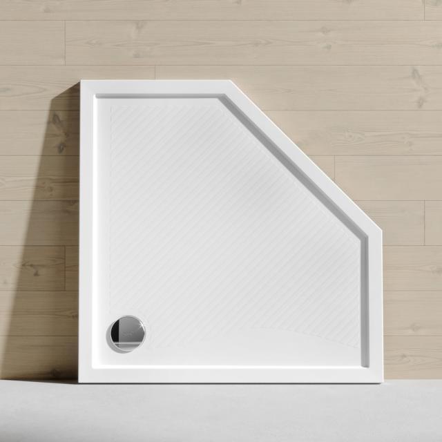 HÜPPE Purano Fünfeck-Duschwanne mit Antirutsch weiß