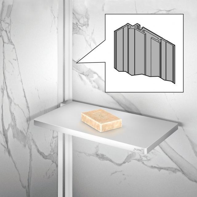 HÜPPE Select+ Eckprofil für EasyStyle Wandverkleidung weiß/grau