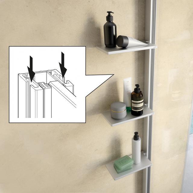 HÜPPE Select+ Innen/Außenprofil für Duschkabinen silber matt