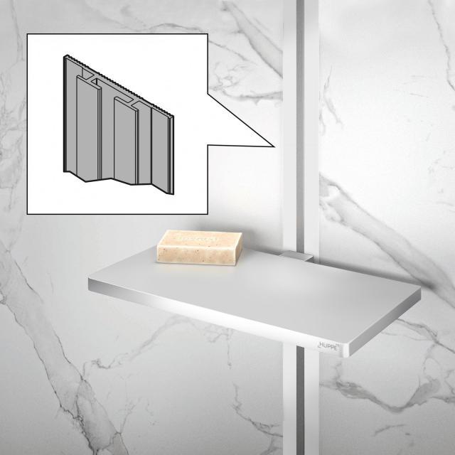 HÜPPE Select+ Verbindungsprofil für EasyStyle Wandverkleidung weiß/grau