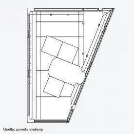poresta systems Poresta Universal Wannenträger für Villeroy & Boch Loop & Friends