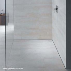 poresta systems Slot Duschelement Ablauf waagerecht, mit Fliesenprofil 1,2 cm