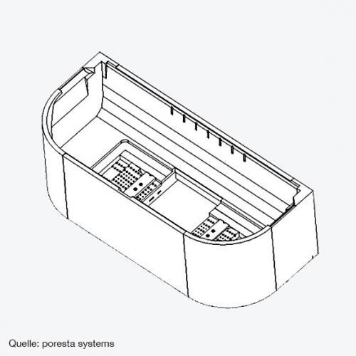 poresta systems Poresta Compact Wannenträger für Centro Duo 2