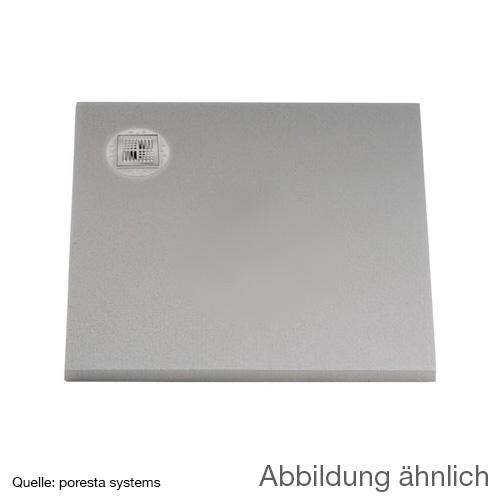 poresta systems BF Duschelement, dezentrierter Ablauf, rechteckig
