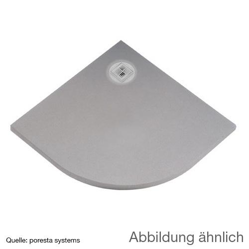 poresta systems BF Duschelement, dezentrierter Ablauf, Viertelkreis