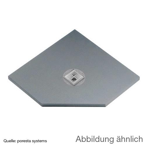 poresta systems BF KMK Duschelement, Fünfeck, zentrierter Ablauf
