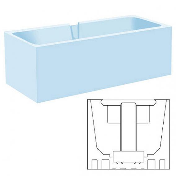 poresta systems Poresta Compact Wannenträger für Ellipso Duo L: 190 B: 100 cm