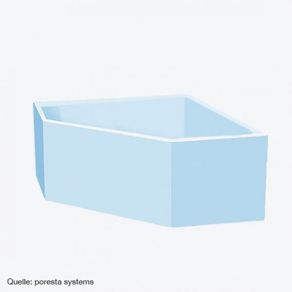 poresta systems Poresta Compact Wannenträger Koralle T200 Eckbadewanne L: 145 B: 145 cm
