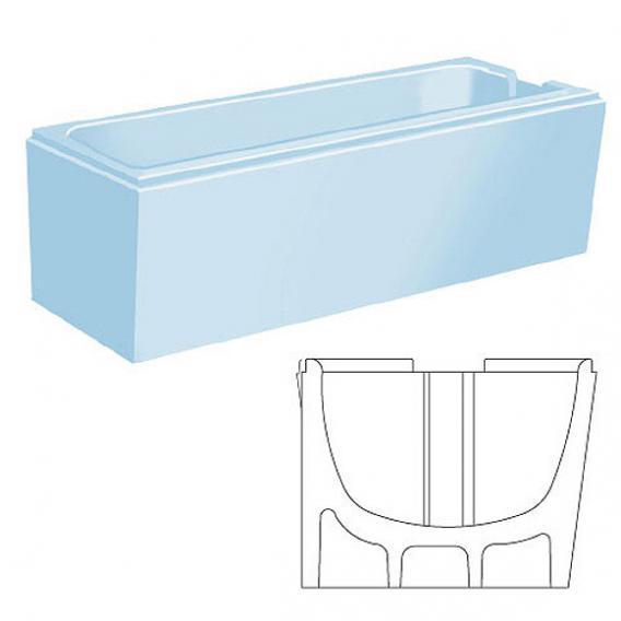 poresta systems Poresta Vario Wannenträger Bette Set L: 150 B: 75 cm