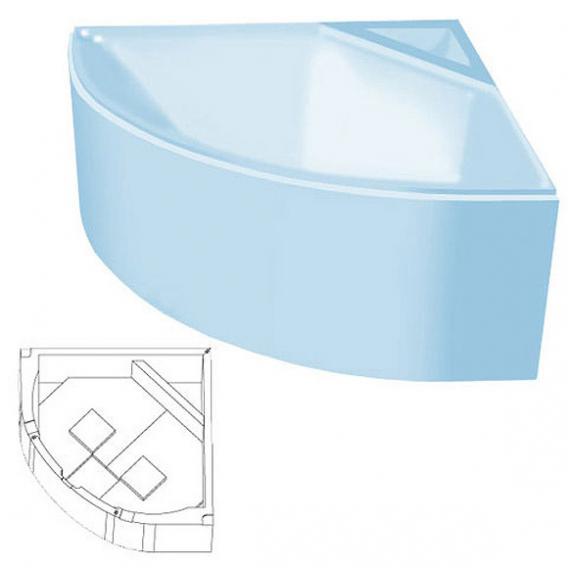 poresta systems Poresta Wannenträger ohne Ablage Arco 140x140