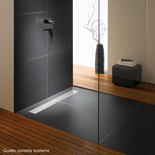 dusche rinnenablauf einbau ebenerdige dusche badewanne u. Black Bedroom Furniture Sets. Home Design Ideas