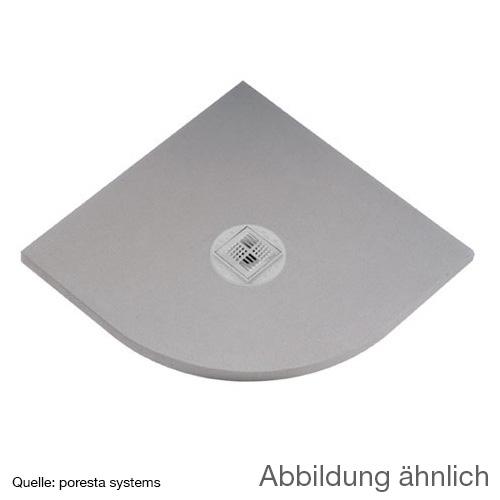 poresta systems BF Duschelement, Viertelkreis, zentrierter Ablauf