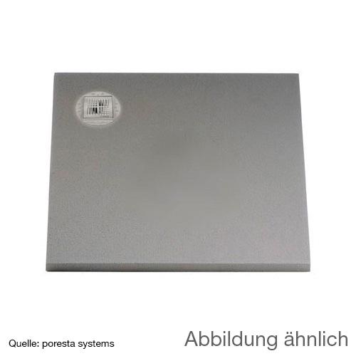 poresta systems BF KMK Duschelement, dezentrierter Ablauf, rechteckig