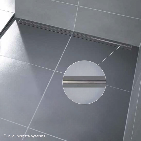 poresta systems Limit S 95 Rost für Ablaufrinne Design F L: 77 B: 8 H: 1,5 cm
