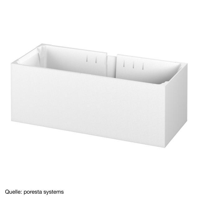 poresta systems Poresta Compact Wannenträger für Bette Select Rechteck-Badewanne mit seitlichem Überlauf