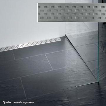 poresta systems Rost für Ablaufrinne Design C