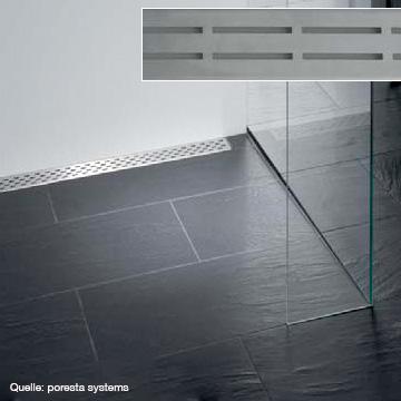 poresta systems Rost für Ablaufrinne Design D