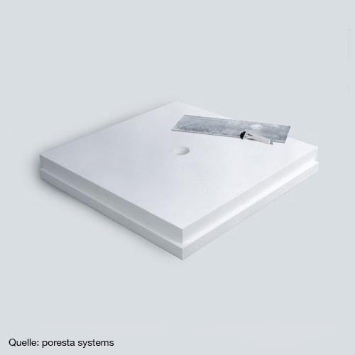 poresta systems Unterbauelement Plattenstärke 8 cm