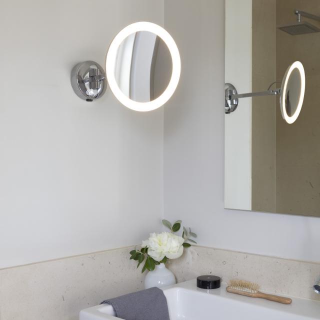 astro Mascali LED Wand-Kosmetikspiegel, 5-fach Vergrößerung, 230 V