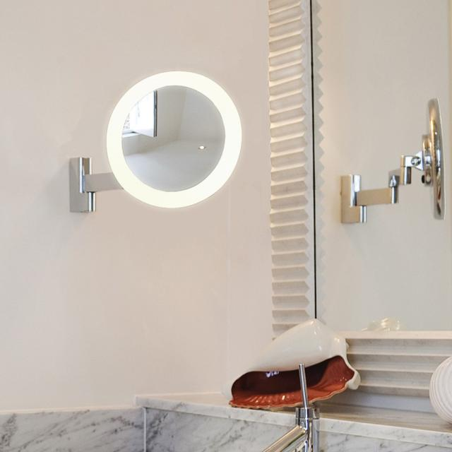 astro Niimi LED Wand-Kosmetikspiegel, 5-fach Vergrößerung, 230 V