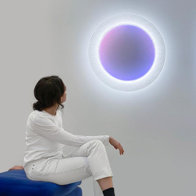 INGO MAURER Moodmoon RGBW LED Wandleuchte mit Dimmer, rund