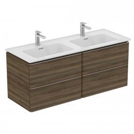 Ideal Standard Adapto Möbelwaschtisch-Unterschrank mit 4 Auszügen Front walnuss dekor / Korpus walnuss dekor