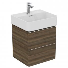 Ideal Standard Adapto Waschtischunterschrank mit 2 Auszügen Front walnuss dekor / Korpus walnuss dekor