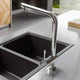 Ideal Standard CERALOOK Einhebel-Küchenarmatur mit schwenkbarem & ausziehbarem Auslauf