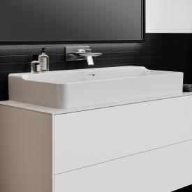 Ideal Standard Conca Waschtisch weiß, ohne Hahnloch, geschliffen, mit Überlauf