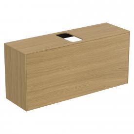 Ideal Standard Conca Waschtischunterschrank mit 1 Auszug und 1 Ausschnitt Front eiche hell / Korpus eiche hell