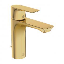 Ideal Standard Connect Air Einhebel-Waschtischarmatur GRANDE brushed gold, mit Ablaufgarnitur