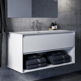 Ideal Standard Connect Air Waschtisch-Unterschrank mit 1 Auszug und 1 offenen Fach weiß glänzend/weiß matt