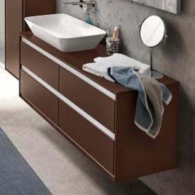 Ideal Standard Connect Air Waschtischunterschrank für Doppelwaschtisch mit 4 Auszügen Front braun matt / Korpus braun matt/weiß matt