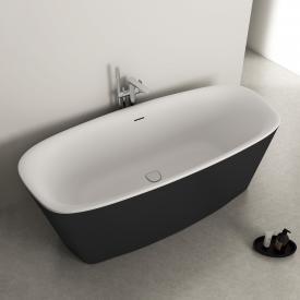 Ideal Standard Dea Freistehende Oval-Badewanne schwarz/weiß matt