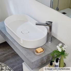 Ideal Standard Edge Einhebel-Waschtischarmatur mit verlängertem Sockel ohne Ablaufgarnitur