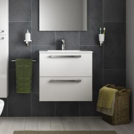 Ideal Standard Eurovit Plus Waschtisch mit Waschtischunterschrank mit 2 Auszügen Front weiß hochglanz/Korpus weiß hochglanz