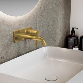 Ideal Standard Joy Wand-Waschtischarmatur Unterputz Bausatz 2 brushed gold, Ausladung 180 mm