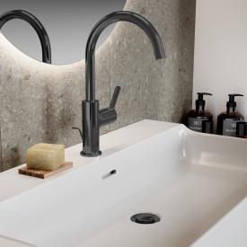 Ideal Standard Joy Waschtischarmatur mit schwenkbarem Auslauf magnetic grey, mit Ablaufgarnitur