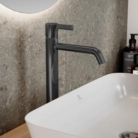 Ideal Standard Joy Waschtischarmatur mit verlängertem Sockel magnetic grey, ohne Ablaufgarnitur