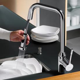 Ideal Standard Retta Einhebel-Küchenarmatur mit hohem Auslauf und ausziehbarer Handbrause