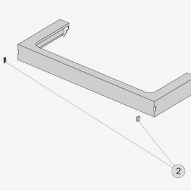 Ideal Standard Tonic II Abdeckkappe für Griffloch, 2 Stück hellgrau hochglanz