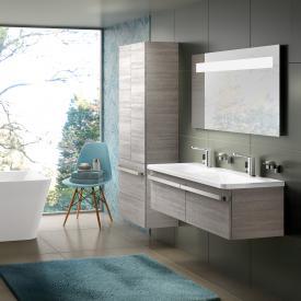 Ideal Standard Tonic II Doppelwaschtisch-Unterschrank Front eiche grau dekor/ Korpus eiche grau dekor