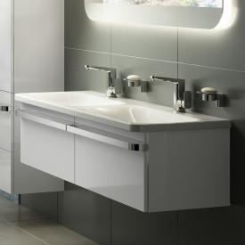 Ideal Standard Tonic II Doppelwaschtisch-Unterschrank Front weiß hochglanz/ Korpus weiß hochglanz