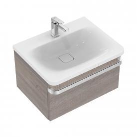 Ideal Standard Tonic II Waschtischunterschrank mit 1 Auszug Front eiche grau dekor/ Korpus eiche grau dekor