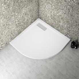 Ideal Standard Ultra Flat New Viertelkreis-Duschwanne Komplett-Set weiß