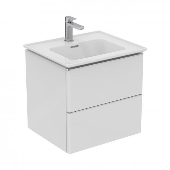 Ideal Standard Adapto Möbelwaschtisch-Unterschrank mit 2 Auszügen Front weiß hochglanz / Korpus weiß hochglanz