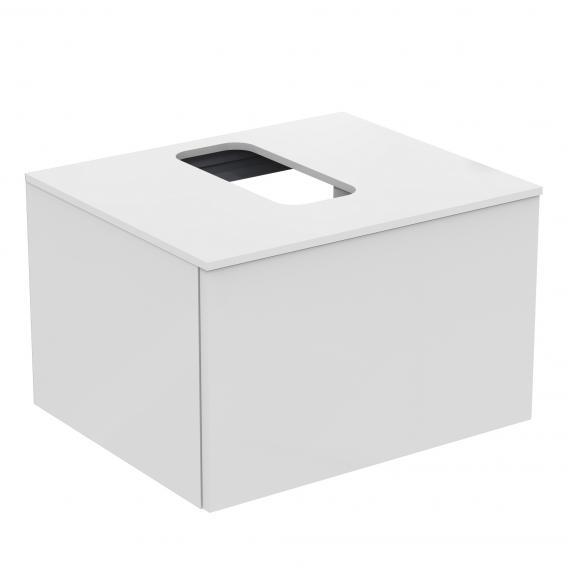 Ideal Standard Adapto Waschtischunterschrank mit 1 Auszug Front weiß hochglanz / Korpus weiß hochglanz