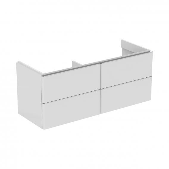 Ideal Standard Adapto Waschtischunterschrank für Doppelwaschtisch mit 4 Auszügen Front weiß hochglanz / Korpus weiß hochglanz