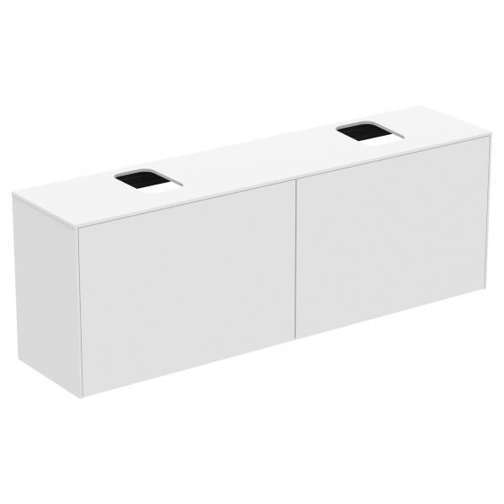 Ideal Standard Conca Waschtischunterschrank mit 2 Auszügen und 2 Ausschnitten Front weiß matt / Korpus weiß matt