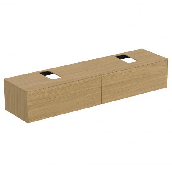 Ideal Standard Conca Waschtischunterschrank mit 2 Auszügen und 2 Ausschnitten Front eiche hell / Korpus eiche hell